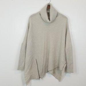 All Saints Woolblend Turtleneck Oversize Sweater